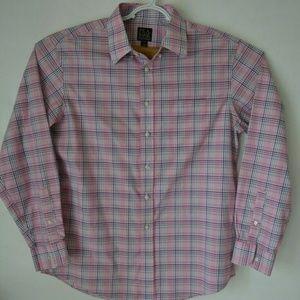 JoS A Bank Long Sleeve Dress Shirt Size L